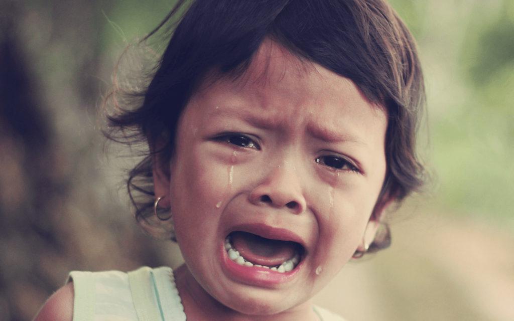 В первый раз в садик со слезами